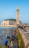 CASABLANCA, MOROCCO - April, 19, 2013: Hassan II Mosque Royalty Free Stock Image
