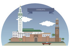 Casablanca, Morocco. Largest city of Morocco, located in the western part of the country Royalty Free Stock Images