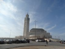 casablanca Morocco Meczetowy Hassan II buduje Fotografia Royalty Free