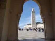 casablanca Morocco Meczetowy Hassan II buduje Obraz Royalty Free