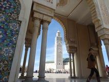 casablanca Morocco Meczetowy Hassan II buduje Zdjęcie Stock