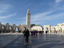 casablanca Morocco Meczetowy Hassan II buduje Obraz Stock