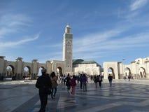 casablanca Morocco Meczetowy Hassan II buduje Zdjęcie Royalty Free