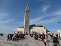 casablanca morocco Moské Hassan II som bygger Arkivbild