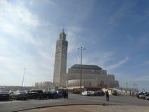 casablanca morocco Moské Hassan II som bygger Royaltyfri Fotografi