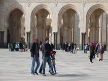 casablanca morocco Moské Hassan II som bygger Fotografering för Bildbyråer