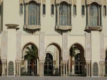 casablanca morocco Moské Hassan II som bygger Royaltyfria Bilder