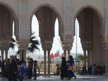 casablanca morocco Moské Hassan II som bygger Arkivbilder