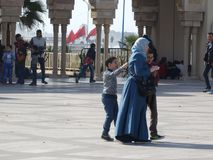 casablanca morocco Moské Hassan II som bygger Arkivfoto