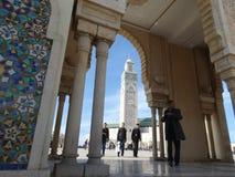 casablanca morocco Moské Hassan II som bygger Royaltyfria Foton