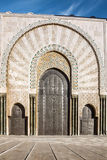 Casablanca, Morocco. Mosque building doors Stock Photos