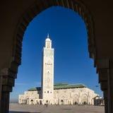 Casablanca in Morocco. Mosque Hassan II building Royalty Free Stock Photo