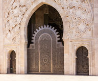 Casablanca, Morocco. Mosque Hassan II doors Stock Photo