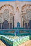 Casablanca moské Fotografering för Bildbyråer