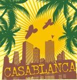 casablanca palm beach stock illustration