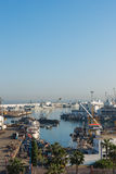 The Casablanca port in the morning time Royalty Free Stock Photos