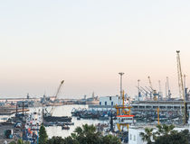 The Casablanca port in the morning time Royalty Free Stock Images