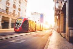 Casablanca Tramway Stock Images