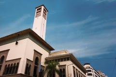 Casablanca zegarowy wierza Zdjęcia Royalty Free