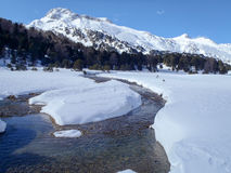 2013_Casaccia, Alpe Gana, Segno de Pian, Casaccia Foto de Stock Royalty Free