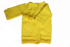 Casaco de lã amarelo Imagens de Stock