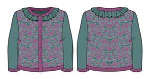 Casaco de lã feito malha do jacquard Imagem de Stock