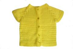 Casaco de lã Handmade do bebê Imagens de Stock