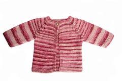 Casaco de lã Handmade do bebê Foto de Stock