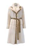 Casaco de pele branco Fotografia de Stock Royalty Free