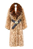 Casaco de pele de Brown Foto de Stock Royalty Free