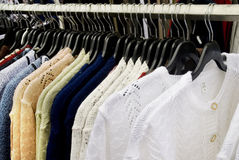 Casacos de lã para alldays Fotografia de Stock