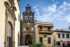 Casade la Cultura La Orotava gammal stad, Tenerife Arkivfoton