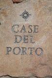 Casadel Porto - som snidas i sten Arkivfoton