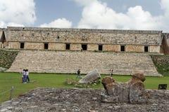 casadelgobernador maya mexico fördärvar uxmal Arkivfoton