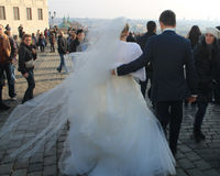 Casado en Praga Imagenes de archivo