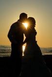 Casado nas silhuetas Fotos de Stock