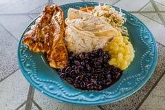 Casado - traditional meal in Costa Ri. Ca royalty free stock photo
