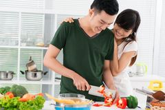 Casado a um cozinheiro Imagem de Stock Royalty Free