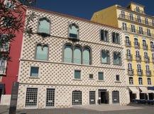CasaDOS Bicos - hus av grova spikar på Alfama, Lissabon Royaltyfria Bilder