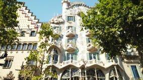 Casaen Batllo är en berömd byggnad som lokaliseras i mitten av Barcelona och, är ett av Antoni Gaudi mästerverk lager videofilmer