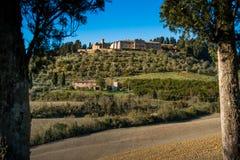 Casaglia,比萨,意大利- 2017年11月16日, :迁徙的路线在Casaglia,蒙泰卡蒂尼瓦尔迪切奇纳的自治市 免版税库存照片