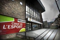 Casal De L Esport - dom sport, losu angeles Vella miasteczko, Andorra obrazy stock
