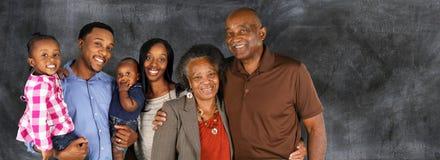 Casal superior com família Fotos de Stock Royalty Free
