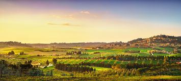 Casale Marittimo village, vineyards and landscape in Maremma. Tu. Casale Marittimo village, vineyards and countryside landscape in Maremma. Pisa Tuscany, Italy Royalty Free Stock Photo