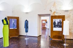 Architectures Of Casale Monferrato. Casale Monferrato, Italy - May 7, 2011:  Exhibition of 60 years of Italian Style in the halls of the Castello Royalty Free Stock Image
