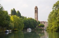 Casale-sul sile Stadt, Italien Stockbild