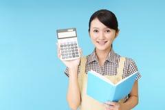 Casalinga con il calcolatore immagine stock libera da diritti