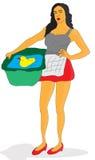 Casalinga della donna illustrazione vettoriale