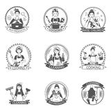 Casalinga Label Set Immagini Stock Libere da Diritti