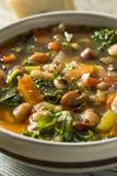 10 casalinghi organici caldi Bean Soup Immagini Stock